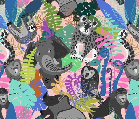 Fading fauna fabric by talanaart on Spoonflower - custom fabric