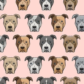 pit bull faces (pink)