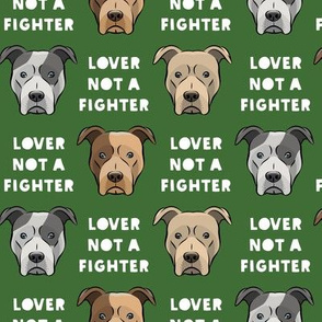 lover not a fighter - pit bull on pine