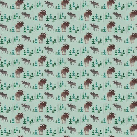 little moose fabric by lnd_art on Spoonflower - custom fabric
