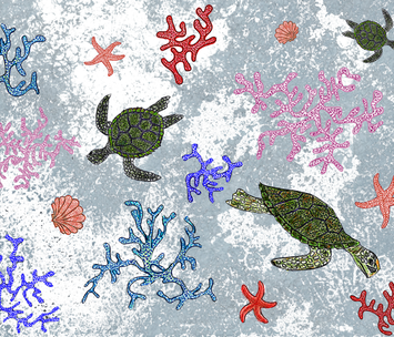 Sea Turtle's Paradise fabric by quinndesigns on Spoonflower - custom fabric