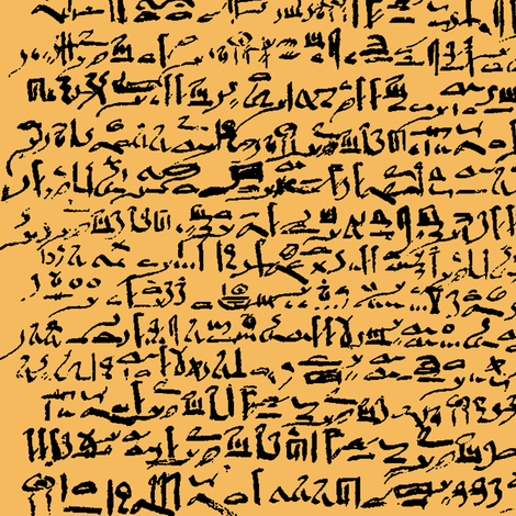 Egyptian Script on Casablanca Yellow // Large fabric by thinlinetextiles on Spoonflower - custom fabric