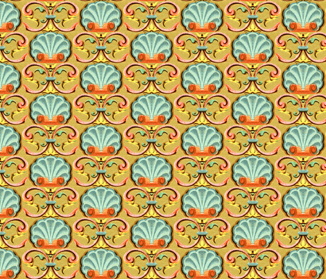 17eme siecle 138a fabric by hypersphere on Spoonflower - custom fabric