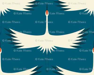 Whooping Crane Migration - Night