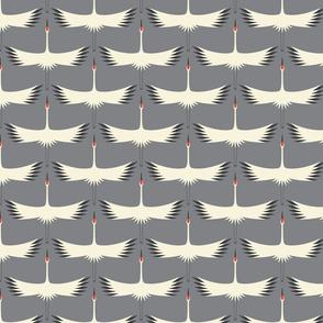 Whooping Crane Migration - Smoke