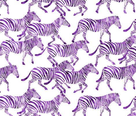 zebras in purple fabric by littlearrowdesign on Spoonflower - custom fabric