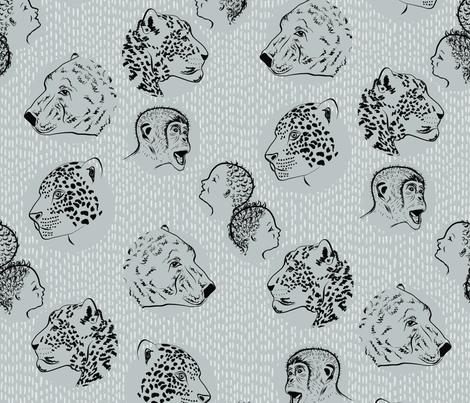 Is your species timid, cute or suitable for experimentation?  Get ready to be endangered... fabric by su_g on Spoonflower - custom fabric
