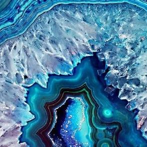 Sparkly Blue Geodes