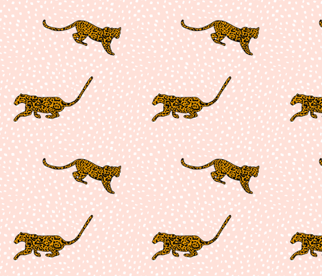 Jaguar Blush fabric by curious_nook on Spoonflower - custom fabric