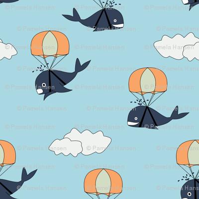 parachuting whales