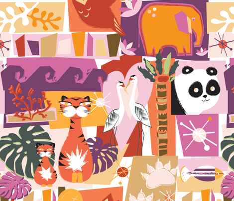 Endangered Tiki fabric by bad_wolf_clothier on Spoonflower - custom fabric