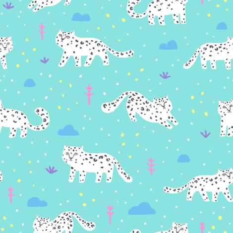 Snow leopard fabric by kondratya on Spoonflower - custom fabric