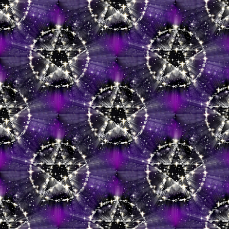 the pentagram fabric by stofftoy on Spoonflower - custom fabric
