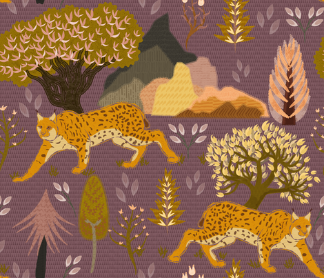 Iberian lynx fabric by another_village on Spoonflower - custom fabric