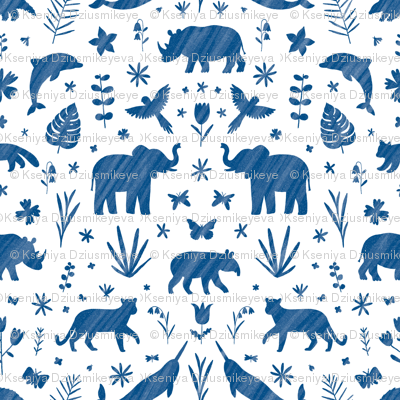 Endangered species ornamental pattern
