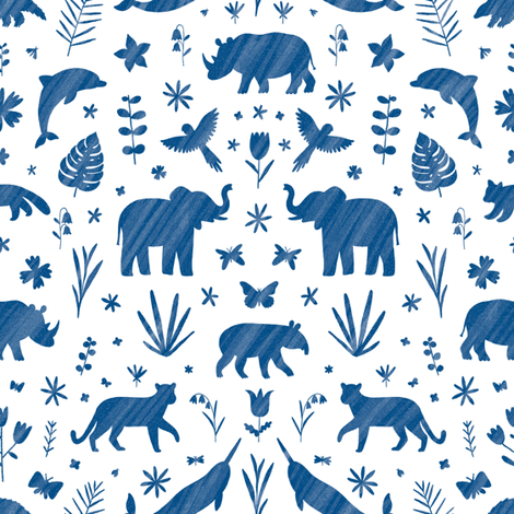 Endangered species ornamental pattern fabric by stolenpencil on Spoonflower - custom fabric