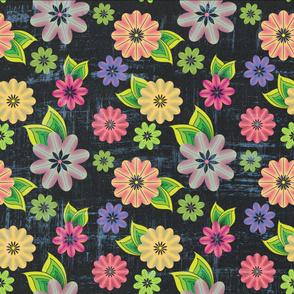 Floral pattern (dark)