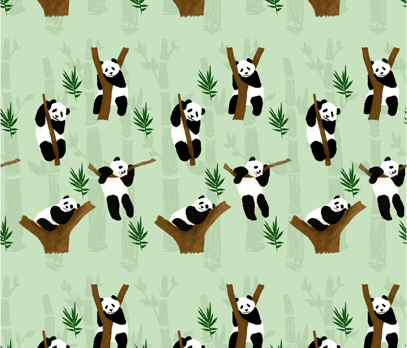 pandapandapanda fabric by koptumvalla on Spoonflower - custom fabric