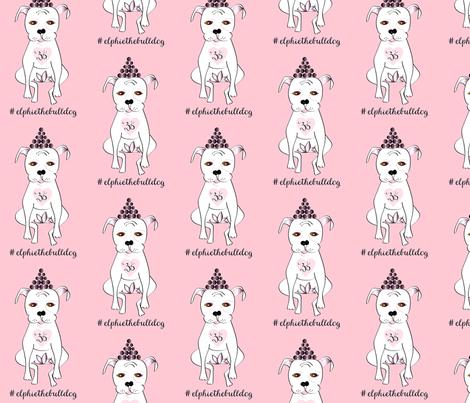 Elphie the bulldog  fabric by susiscauldron on Spoonflower - custom fabric