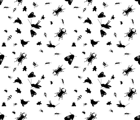 endangered Insects  fabric by ruthjohanna on Spoonflower - custom fabric