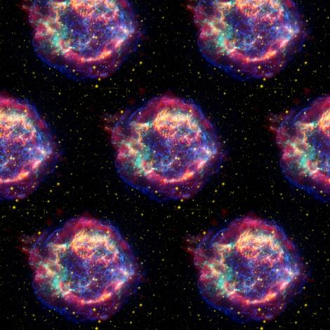 Cassiopeia Constellation fabric by karwilbedesigns on Spoonflower - custom fabric
