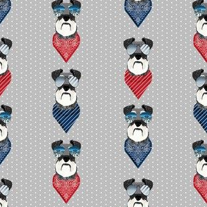 schnauzer sunglasses summer bandana dog breed fabric grey