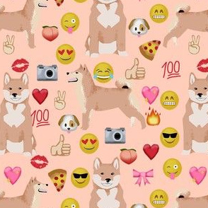 shiba inu emoji dog breed fabric emojis