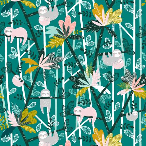Pygmy Sloth Island fabric by sarah_knight on Spoonflower - custom fabric