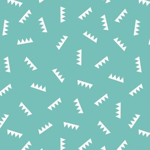 Geometric summer abstract royal crown triangle ridge shape design blue aqua