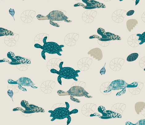 SeaTurtles fabric by maredesigns on Spoonflower - custom fabric