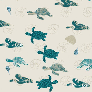 Save the Sea Turtles Scuba Blue