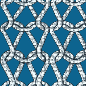 endless knots (light blue white)