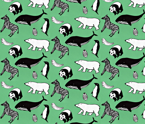 des animaux fabric by prayer_birds on Spoonflower - custom fabric