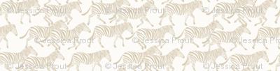 (small scale) zebras in tan