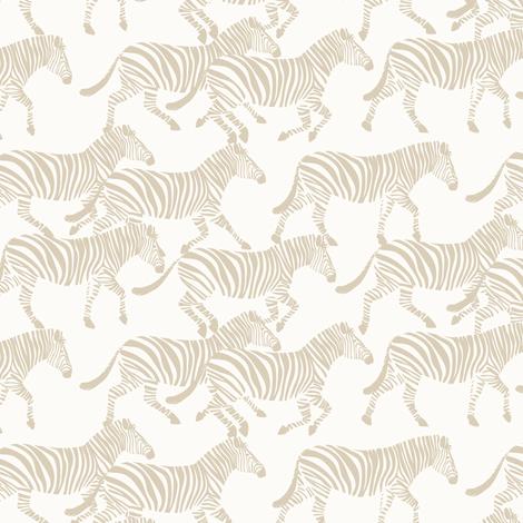 (small scale) zebras in tan fabric by littlearrowdesign on Spoonflower - custom fabric