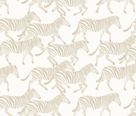 zebras in tan fabric by littlearrowdesign on Spoonflower - custom fabric