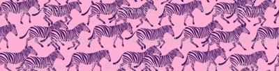 zebras in purple on pink