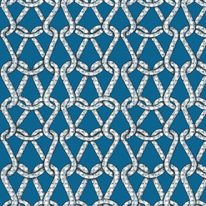 endless knots (light blue white)50
