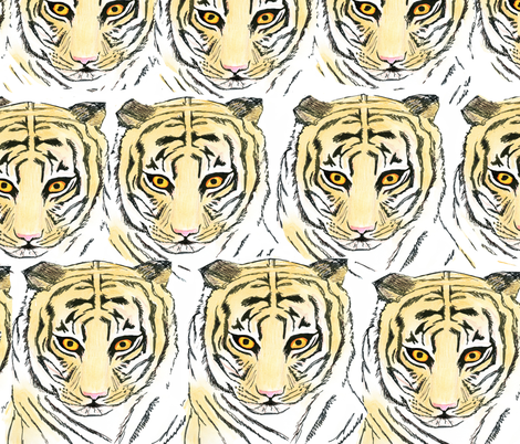 gathering of tigers fabric by mýza_design on Spoonflower - custom fabric