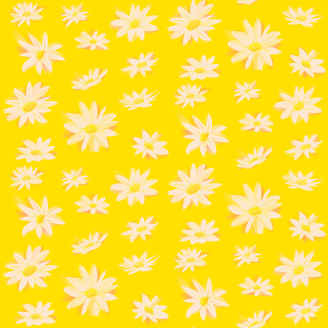 Daisies fabric by evacchi on Spoonflower - custom fabric