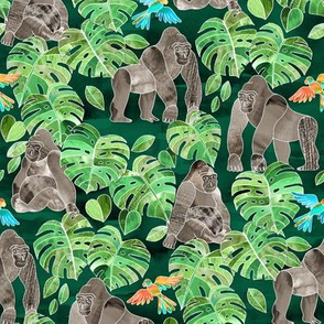 Gorillas in the Emerald Forest - small print