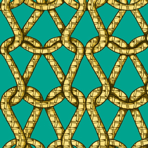 endless knots (emerald yellow)