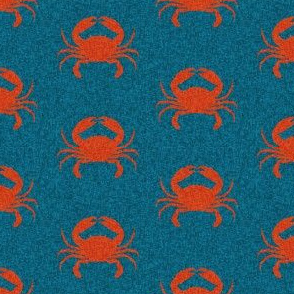 crab stripes nautical animal fabric navy