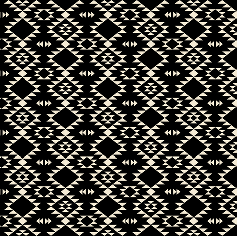 Navajo Black - off White (xs)  fabric by kimsa on Spoonflower - custom fabric