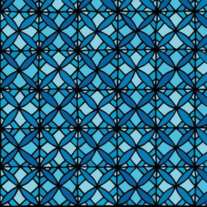 Tiled Lily - Bright Blue
