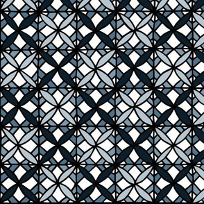 Tiled Lily - Grey Blue