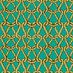 endless knots (emerald yellow)50