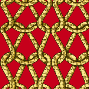 endless knots (red yellow)