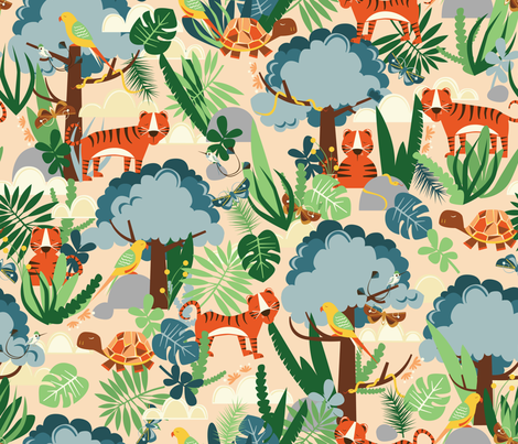 Endangered Animals fabric by oliveandruby on Spoonflower - custom fabric