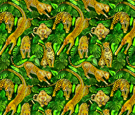 pantherjungle50 fabric by hanneke_binnen on Spoonflower - custom fabric